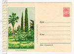 ХМК СССР 1956 г. 321b  1956 02.10 Сочи. Дендрарий. Пропуск красного и черного цветов