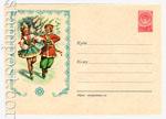 ХМК СССР 1957 г. 542  1957 09.10 Танец на льду. Адресные линии 2+3