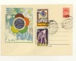 ХМК СССР 1957 г. 400 СГ  1957 23.04 Фестиваль молодёжи. СК № 396 (57-52) Гашение Латвия