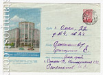 USSR Art Covers 1957 383 P  1957 14.03 Moscow. Central telegraph . Paper blue. Used.