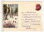 ХМК СССР 1958 г. 840 P  1958 29.12 Снегири в зимнем лесу