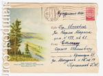 ХМК СССР 1958 г. 835 P  1958 25.12 Река Енисей в районе Красноярской ГЭС