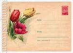 ХМК СССР 1959 г. 926 Dx2 СССР 1959 11.03 Тюльпаны