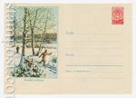 ХМК СССР 1959 г. 915  1959 24.02 Зимний пейзаж