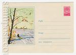 ХМК СССР 1959 г. 962  1959 06.04 Зимний пейзаж. Снегири на рябине