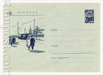 USSR Art Covers 1960 1274 Dx2 USSR 1960 19.07 Moscow. Mayakovsky square.