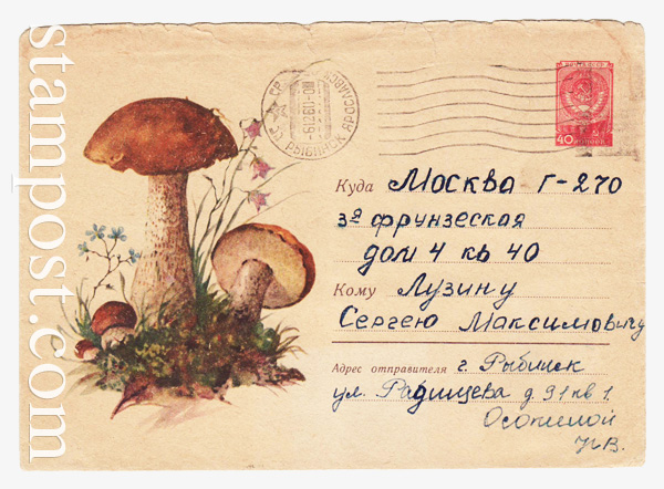 1249 P ХМК СССР  1960 27.06 Подосиновики