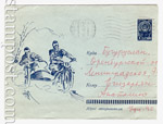USSR Art Covers 1963 2927 USSR 1963 Motocross Racing.Used. blue paper