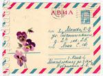 ХМК СССР 1966 г. 4415 P  1966 АВИА. Анютины глазки. Н. Кирпичева