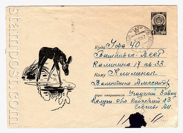 4323 P ХМК СССР СССР 1966 07.07 Лосенок
