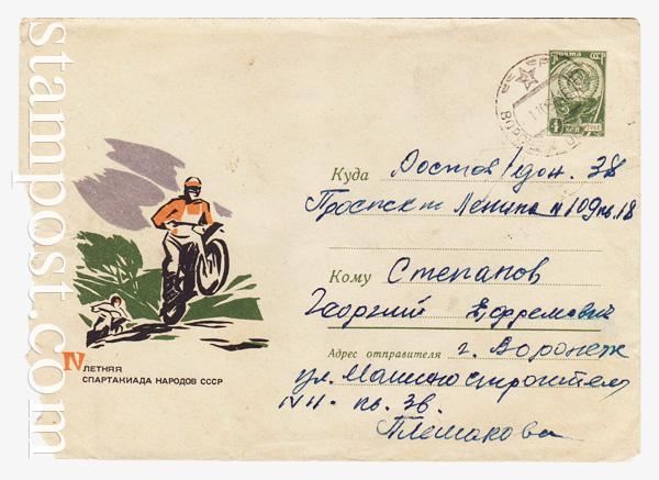 4247 P ХМК СССР  1966 25.05 Летняя спартакиада. Мотокросс