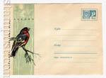 ХМК СССР 1967 г. 5334  1967 Охраняйте полезных птиц! Зяблик