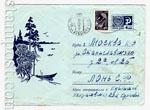 ХМК СССР 1968 г. 5350  1968 02.01 Пейзаж с лодками. Бум.ГУ