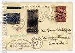 Почтовые отправления 30-е года 7 СССР Морское почтовое отправление корблем Gribsholm. Из Ленинграда (13.08) в Norrbystrand (16.08)