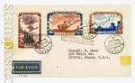 Почтовые отправления 50-е года 5  1955 Стройки СССР