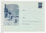 USSR Art Covers 1961 1803 Dx2  1961 Лыжники. Ю.Бажанов